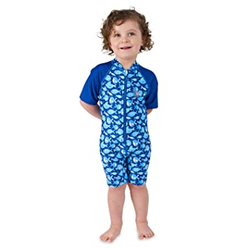 6ceea050d682 Baby Boys Swimming Suit | Toddler One Piece Warm Sun Protection UV Swimsuit  - Blue 12 Sc 1 St Amazon UK