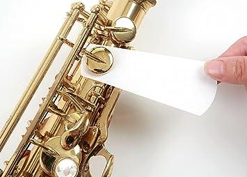 Amazon.com: Woodwind Pad 80 hojas de papel de limpieza para ...