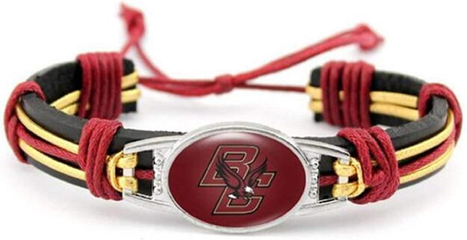 Boston College Eagles Real Leather Adjustable Cord Tie 7 to 10