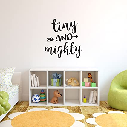 Charmant Baby Nursery Room Vinyl Wall Decor   Tiny And Mighty   23u0026quot; X 22u0026quot;