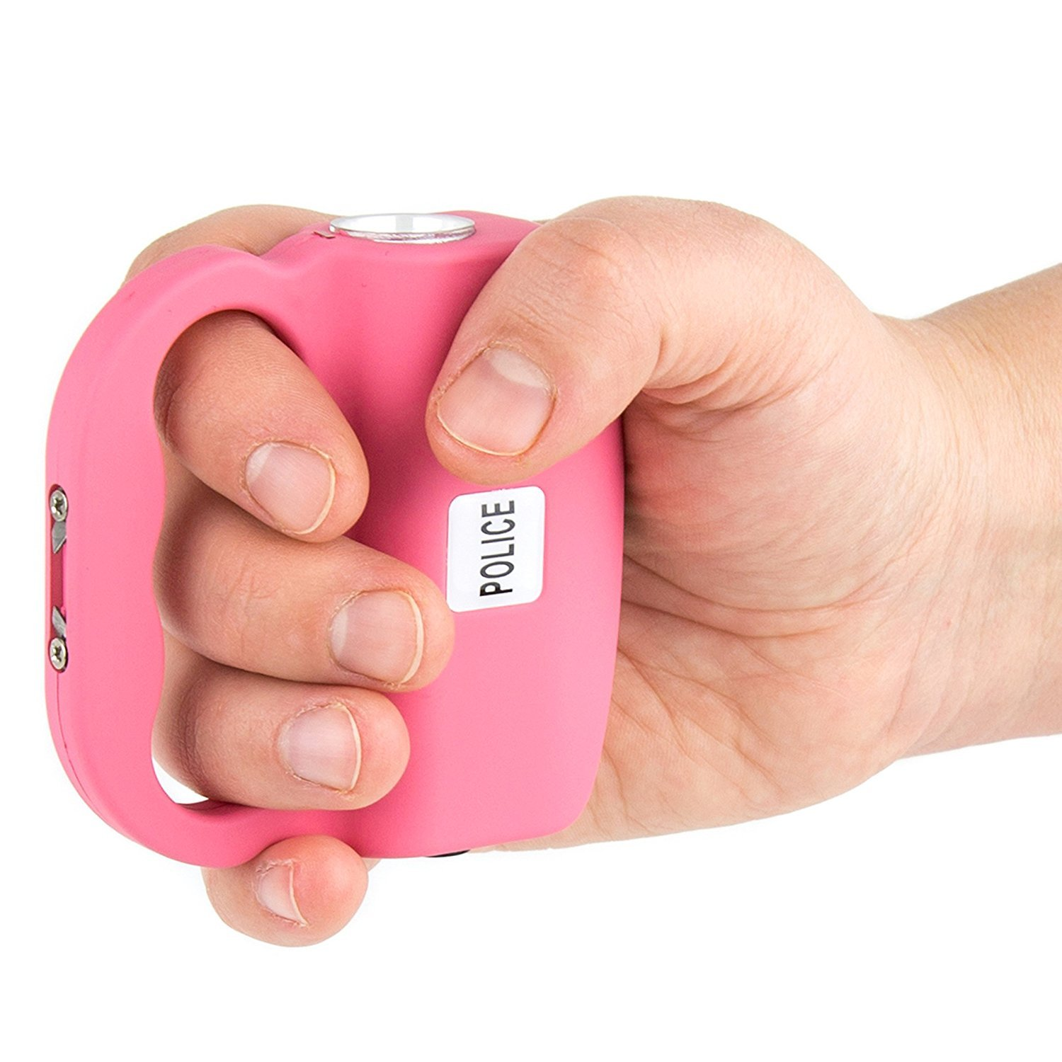 Police 517-15 Billion Heavy Duty Max Voltage Stun Gun - Rechargeable With Bright LED Light and Holster Case, Pink
