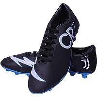 Sisdeal CR7 Juventus Black Blue Football Studs Shoes Size 1-10