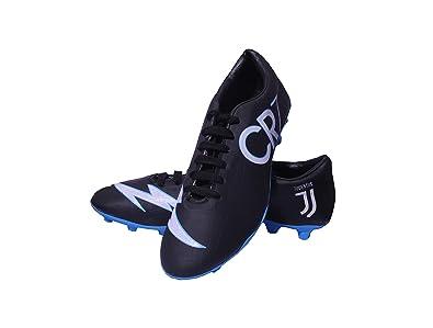 98bdb8c8cb8 Sisdeal CR7 Juventus Black Blue Football Studs Shoes Size- 7  Buy ...