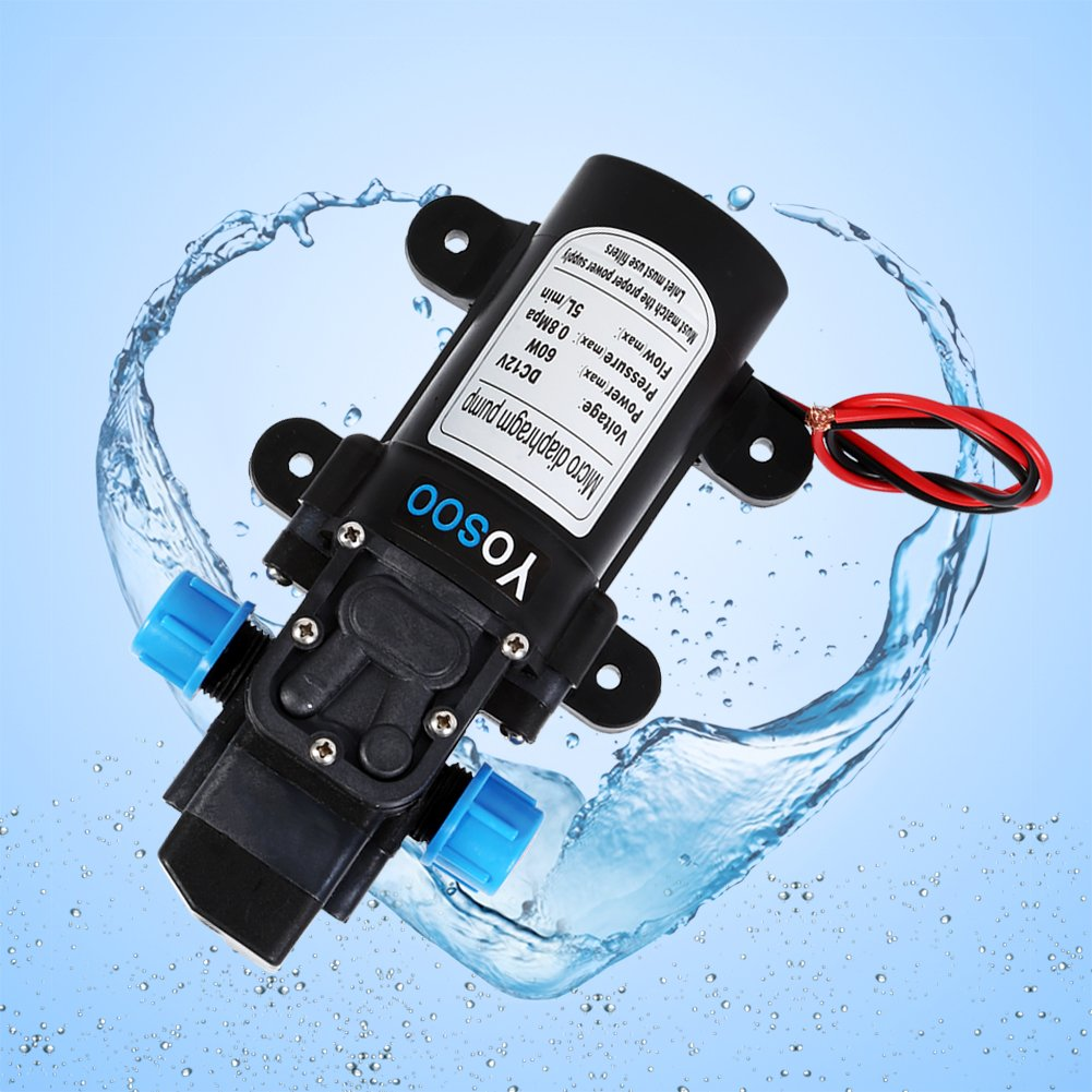 Dc 12v 5l Min 60w High Pressure Micro Diaphragm Water Pump Automatic In A Shasta Motorhome Including The Inlet Switch Self Priming For Caravan Boat Rv Garden Car Motorbike