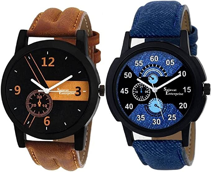 efeaeff47a Buy Sajavat Enterprise Watches for Boys/Watches for Mens/Watch for Boy/Watch  for Men Stylish/Watch for Kids Boys Analogue Black Dial Offers Online at  Low ...