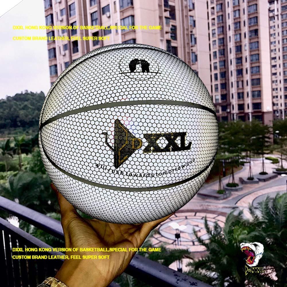 Basketball 6 Arten Von Geschenken,A Light Up Basketball Offizielle Gr/ö/ße Gewicht 7 Regenbogen Farbe Schwei/ß Absorbierende Indoor Outdoor Light Reflection Basketball