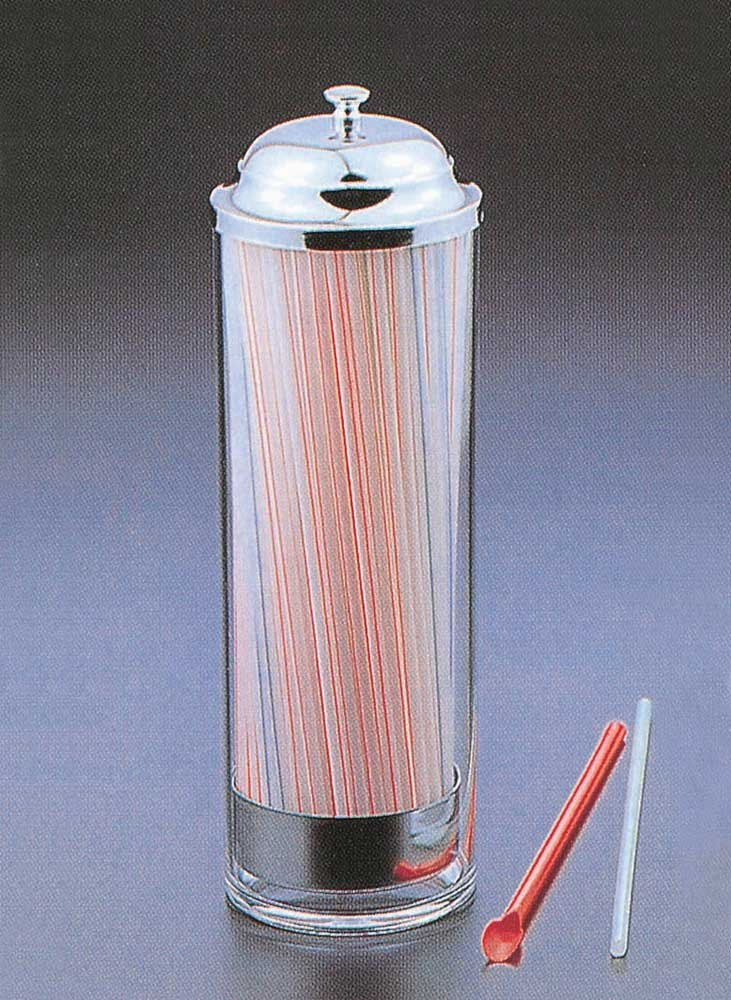 Pull-up Straw Dispenser (Clear) (11''H x 4.5''D) by Huang Acrylic