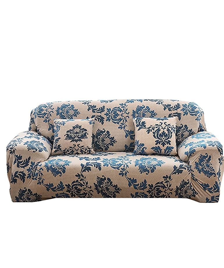 NovaDecor Sofa Cover 3 Seater Stretch Elastic Polyester Fabric Soft Couch  Cover Floral Print Slipcover: Amazon.co.uk: Kitchen & Home