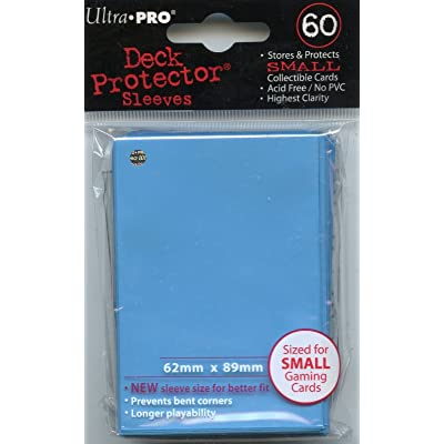 Ultra Pro Card Supplies YuGiOh Deck Protector Sleeves Light Blue 60Count, Trading Card Sleeves: Toys & Games