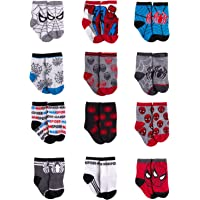 Marvel Spiderman 12 Pair Assorted Color Socks Set, Baby Boys, Age 0-24 Months