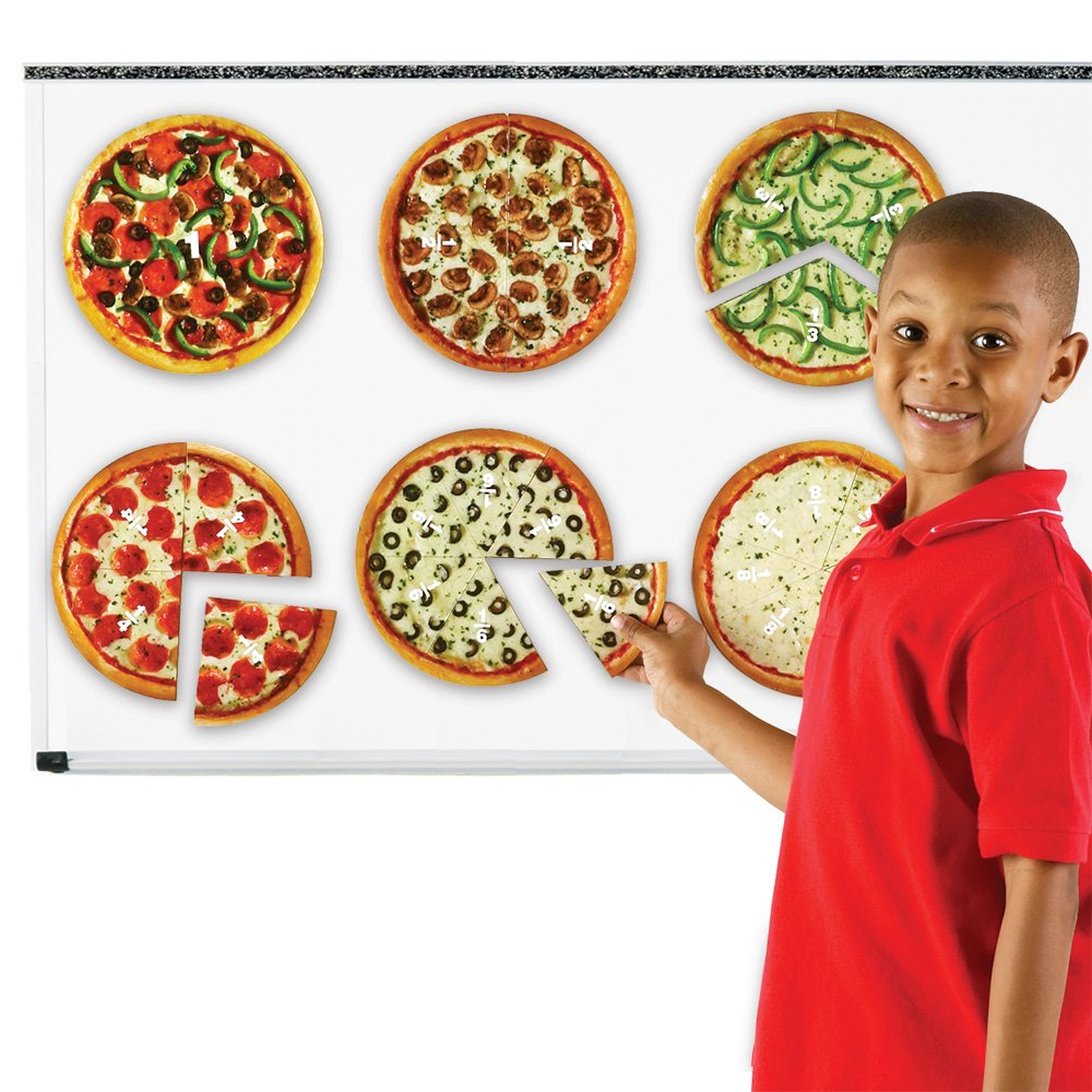 magnetic pizza fractions for kids