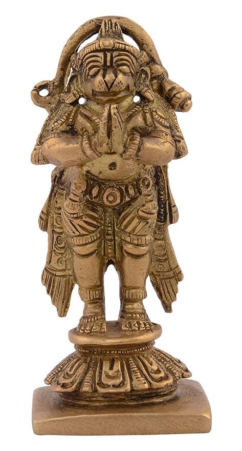 Amazon Com Kapasi Handicrafts Emporium Vzk161 Brass Lord Hanuman
