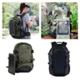 Homyl Solar Panel Backpacks Charging Laptop Camping Hiking Outdoor Sport Rucksack Bag - Black, as described
