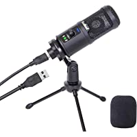 USB Microphone for Computer, Budbof Condenser PC Mic for MAC or Windows Laptop PS4 Gaming YouTube Streaming Vocal…
