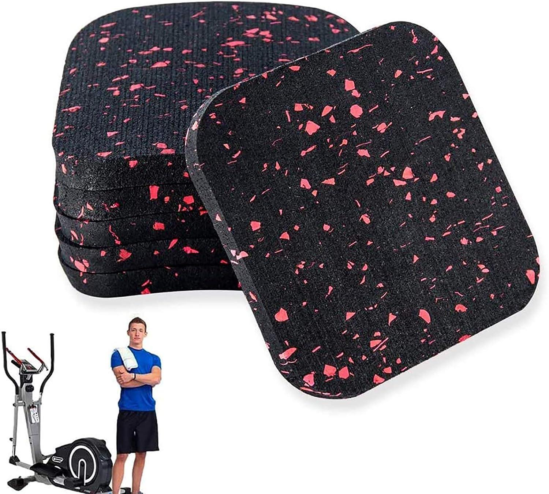 "XP 6 Pack Treadmill Mat, High Density Exercise Equipment Mat for Hardwood Floors and Carpet Protection 3.94"" X 3.94"" X 0.4"""