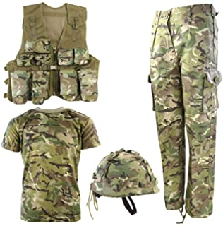 KIDS ARMY DPM CAMO HOODIE FANCY DRESS ALL SIZES NEW!!!! WOODLAND CAMO