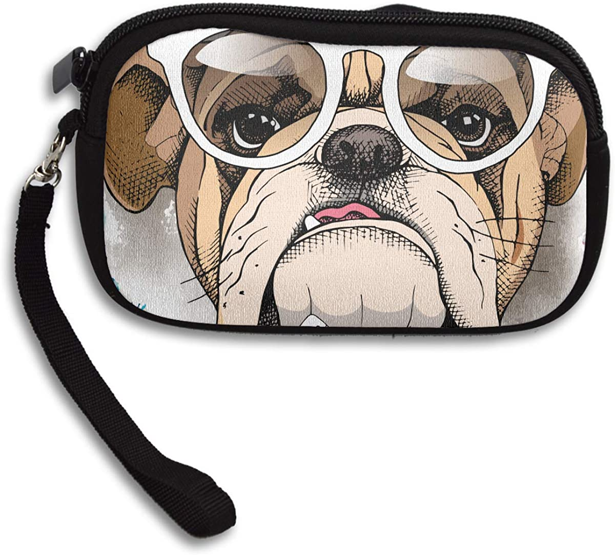 Bulldog Cool Deluxe Printing Small Purse Portable Receiving Bag