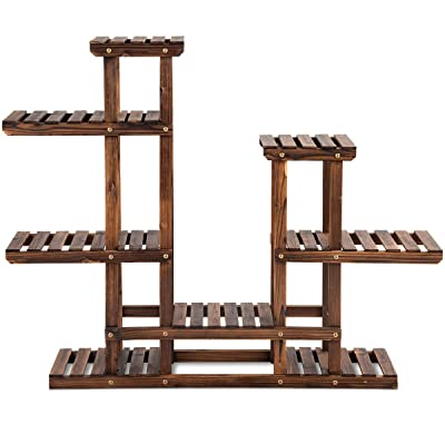 Casart Wood Plant Stand, Multifunctional Flower Display Rack for Garden, Yard, Balcony and More : Garden & Outdoor
