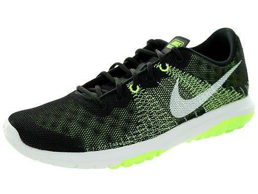 Nike Kids Flex Fury (GS) Black/White/Volt/Flash Lime Running