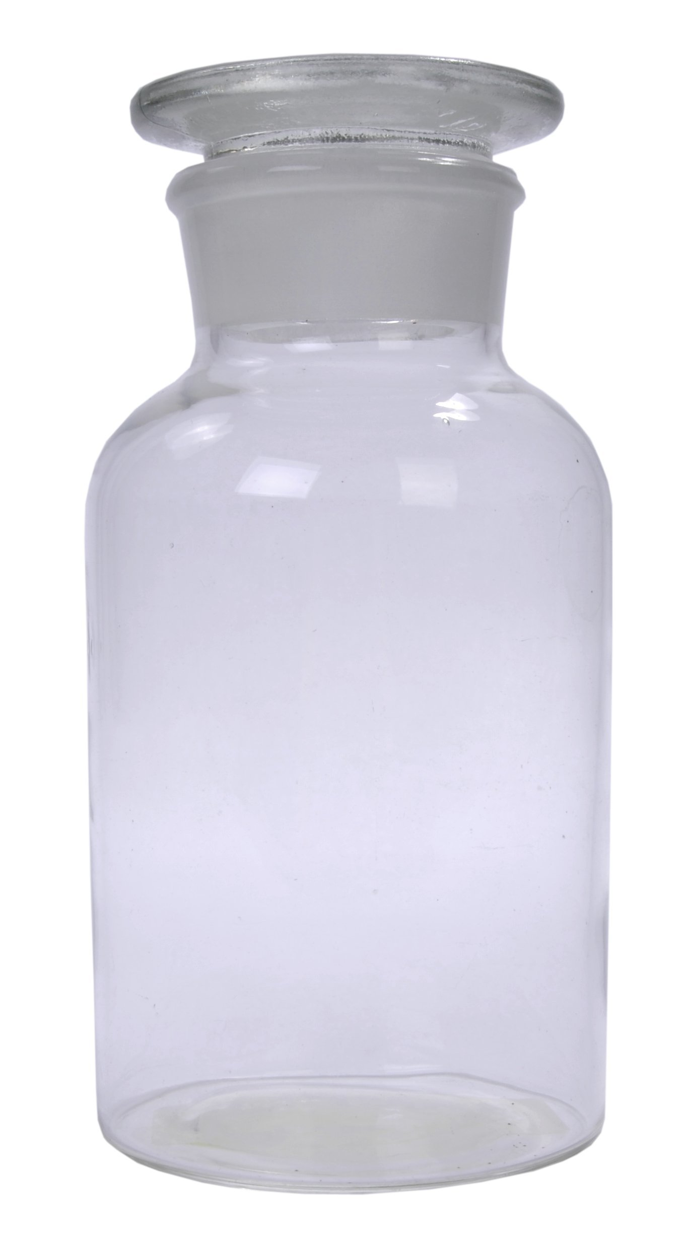 American Educational Clear Flint Glass 500mL Wide Mouth Reagent Bottle with Ground Glass Stopper (Bundle of 5) by American Educational Products