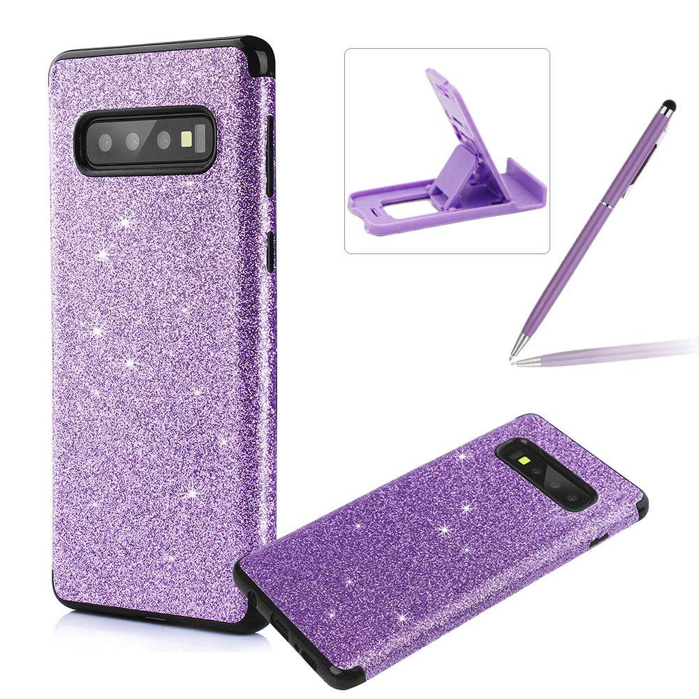 Gold Glitter TPU Case for Samsung Galaxy S10E,Soft Silicone Case for Samsung Galaxy S10E,Herzzer Luxury Diamond Soft Gel Anti-Scratch Abrasion Resistance Rubber Bumper Case