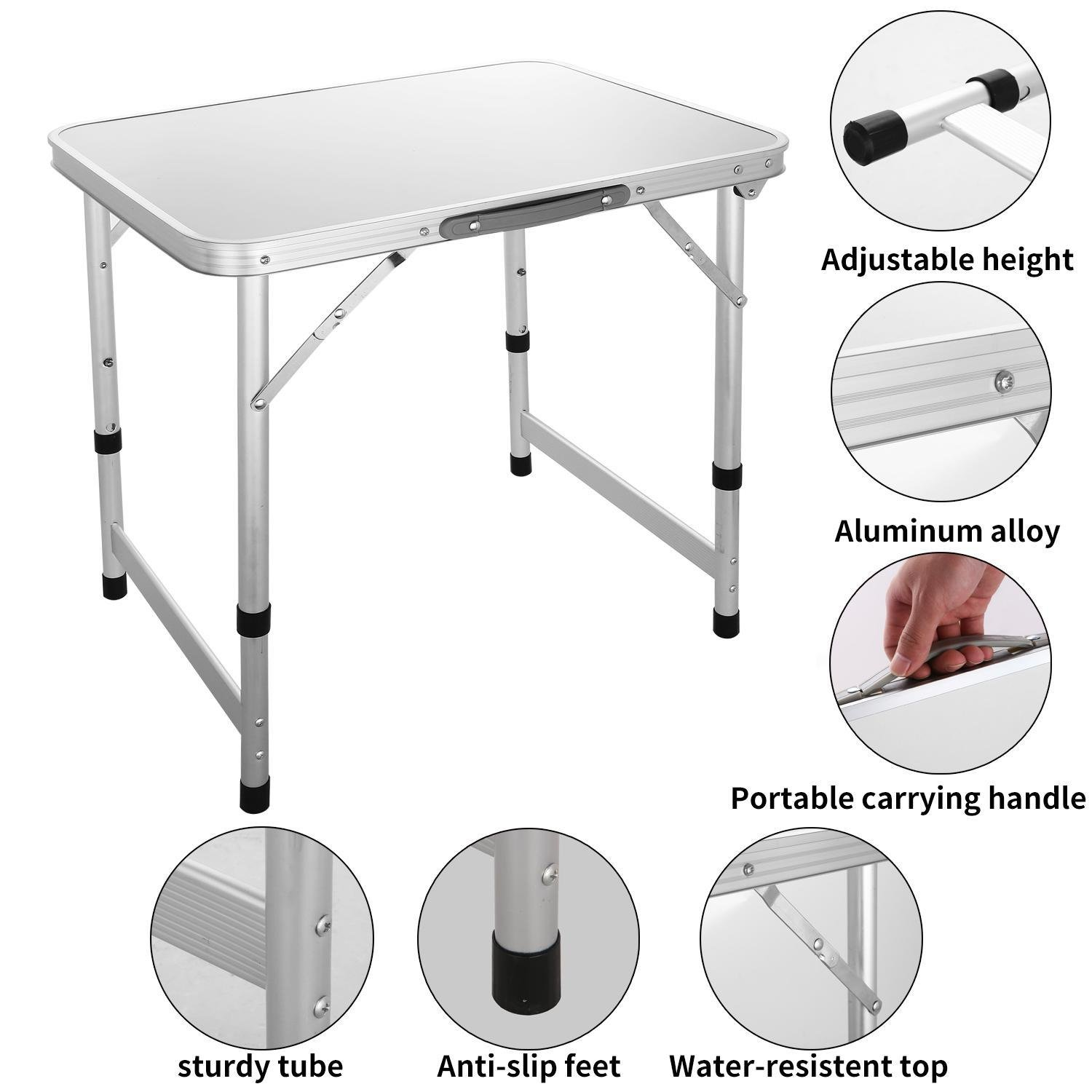 Bluefringe Folding Table/Breakfast Serving Bed Tray/Mini Picnic Table/Foldable Laptop Table - Multipurpose for Party Dining Desk Indoor, Outdoor, Office-26.5 x 21.8 inch