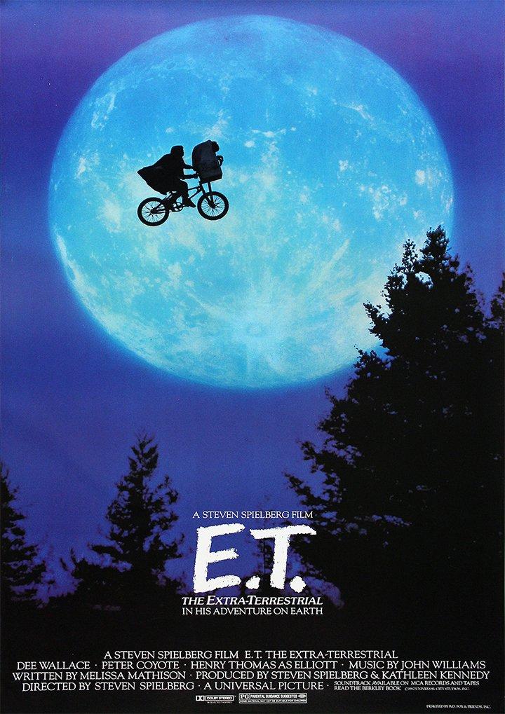 Steven Spielbergs ET Movie Film #2 A4 Poster Print Picture 280GSM Satin Photo Paper