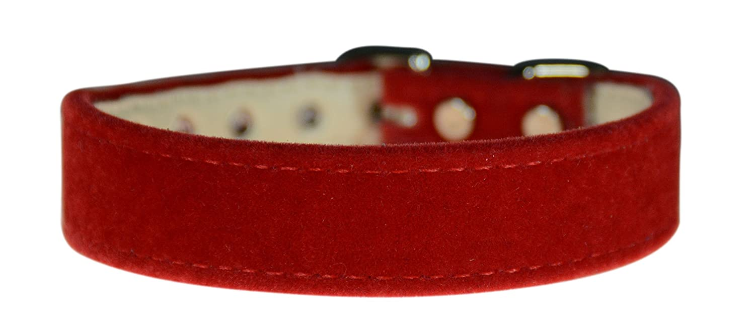 Evans Collars 3 4  Shaped Collar, Size 18, Velvet, Red