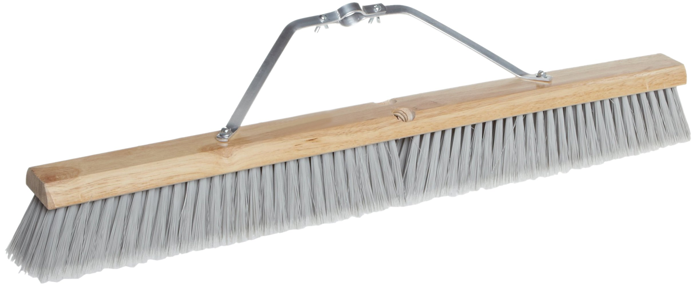 Magnolia Brush 3730 LH Line Floor Brush, Flagged-Tip Plastic Bristles, 3'' Trim, 30'' Length, Silver (Case of 6)