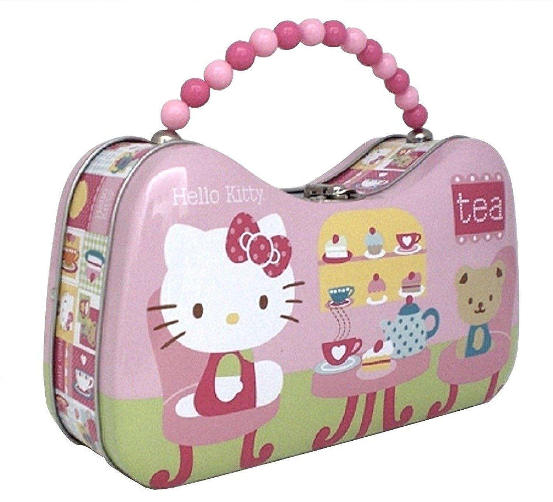 d73174e204d Hello Kitty Metal Handbag Purse Teddy Bear Tea Party Tin Box Co. 8.5 x 5 x  2.75  Handbags  Amazon.com