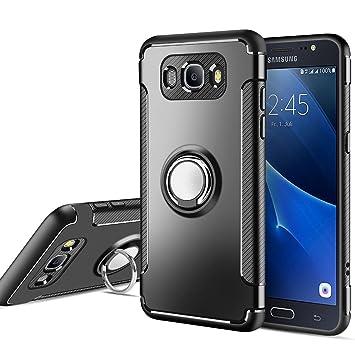MaiJin Funda para Samsung Galaxy J5 2016 SM-J510F (5,2 Pulgadas) Multifunción Anillo sostenedor movil de 360 Grados con función de Soporte Rugged ...