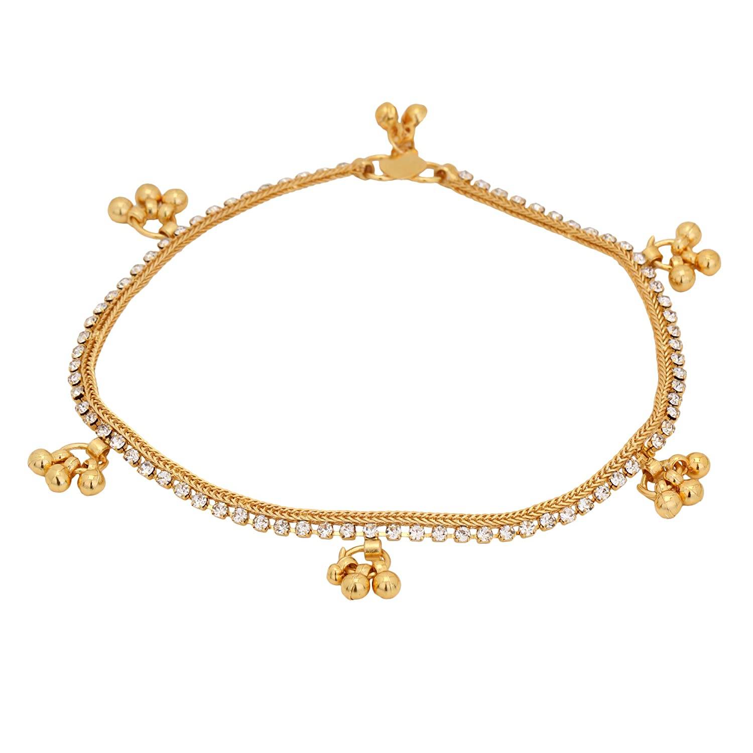 Fashion Jewelry Indian Traditional Crystal Stone Designer Bridal Foot Fashion Jewellery Anklets Jewelry & Watches