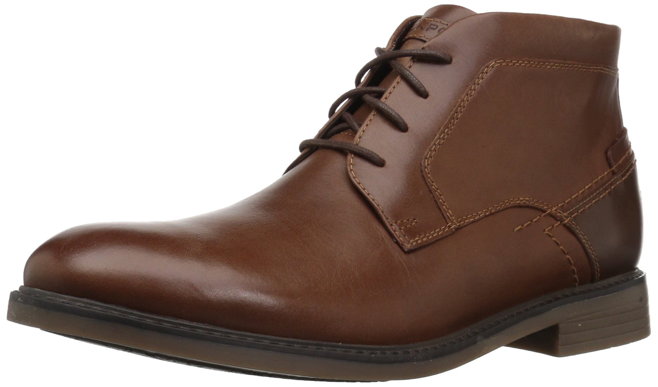 Rockport Men's Collyns Low Boot Chukka Boot, Cognac, 11 M US by Rockport