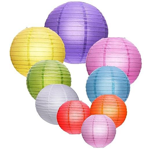 3 opinioni per Outus Lanterne di Cinesi Carta Rotonda Colorata per Decorazioni di Festa