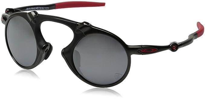 919cd0bfc5d33 Oakley Men s Madman OO6019-06 Polarized Iridium Round Sunglasses, Dark  Carbon, ...
