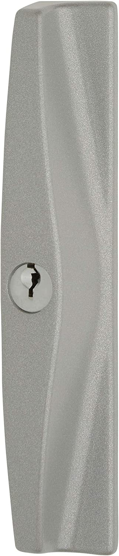 Lockwood Onyx 9A1A25PSIL Sliding Patio Door Lock Handle Set Key Locking Silver