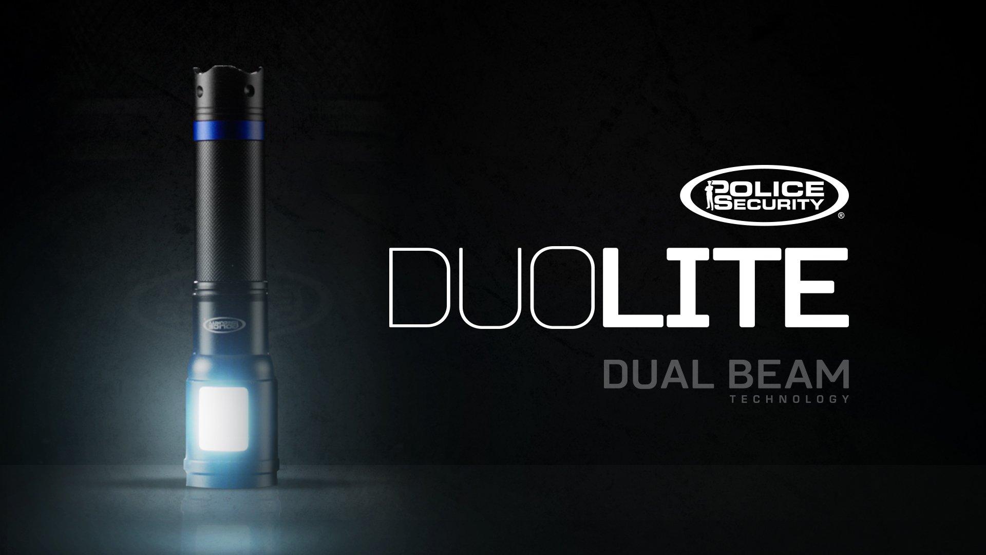 Police Security DuoLite 3AAA - Ultra Bright- Cree LED - Dual Utility Work Flashlight (Spotlight Beam and Area Light) - 300 Lumens - Everyday Use - Dog Walking, Hiking - Lights Your Path by Police Security Flashlights (Image #8)
