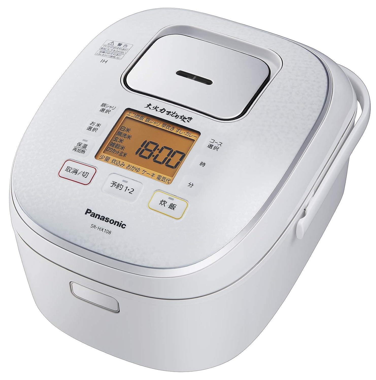 パナソニック 5.5合 炊飯器 IH式 大火力おどり炊き スノーホワイト SR-HX108-W 5.5合  B07FN3RY9K