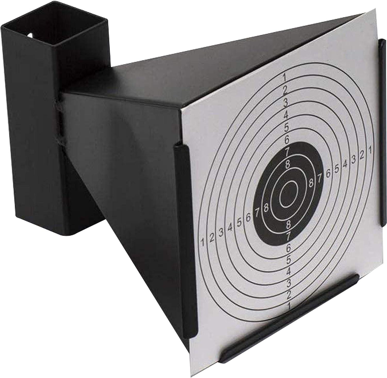 ARSUK Parabalas de Metal para dianas de 14x14cm, Soporte de dianas para Rifles, Pistolas de Aire comprimido