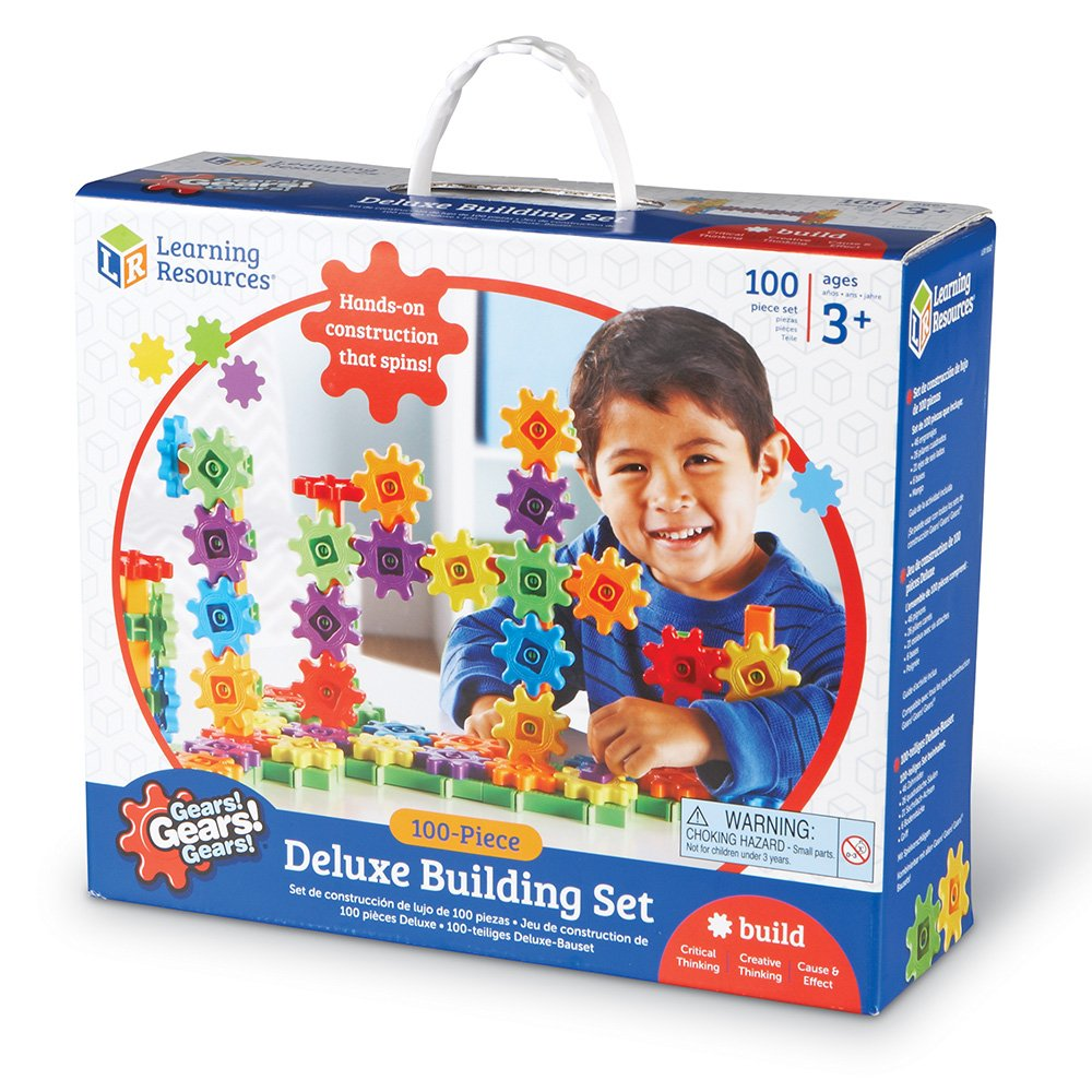 100 Pieces Lee Valley Tools LER9162 B003VKQAZU Learning Resources Gears Gears Deluxe Building Set Gears