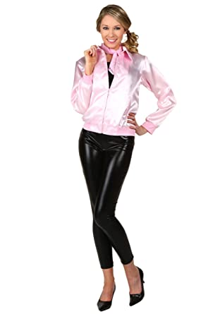 2579d6c0fa0 Women s Pink Ladies Jacket Plus Size Officially Licensed Grease Costume 1X