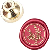 CRASPIRE Wax Seal Stamp Head Fern Leaf Removable Sealing Brass Stamp Head for Creative Gift Envelopes Invitations Cards…