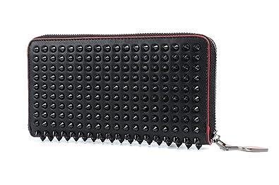 43077b1132b0 christian louboutin 財布長財布 レディース メンズレザー 赤い辺 大容量 男女兼用 財布 多
