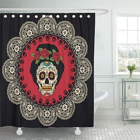 Juego de cortinas de ducha Impermeable Ajustable Tejido de ...