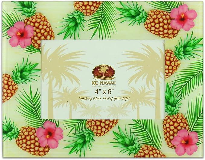 4x6 Island Art Frame Tropical Leaf Picture Frame 16x20 18x24 5x7 8x10 Hawaii Tropical Vacation Photo Frame Totem Pole 11x14 3x5