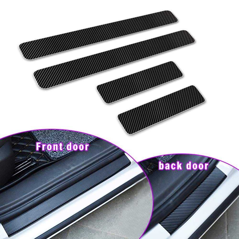Longzhimei Car Door Sill Protector for INFINITI QX50 QX60 QX70 QX80 Door Entry Guard Welcome Pedal Threshold 4D Carbon Fiber Stickers Anti-Scratch