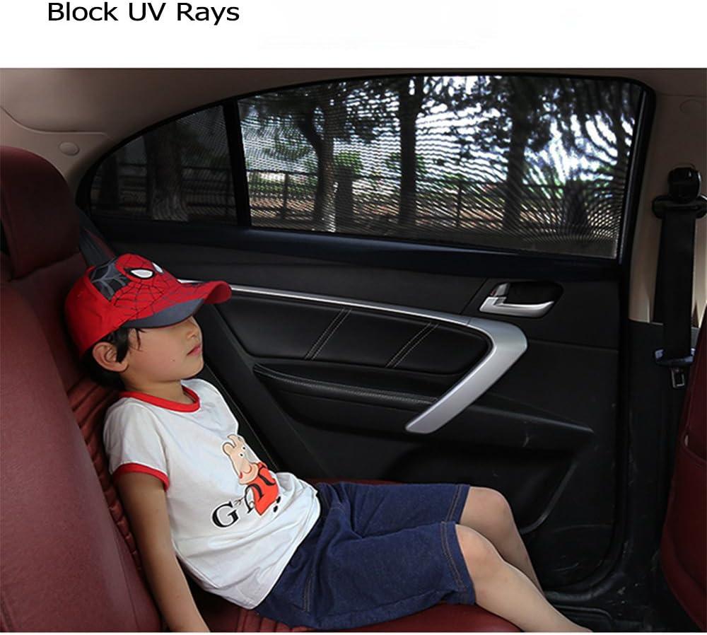 2 St/ück SUNTATOP Auto Sonnenschutz,Bl/öcke UV-Strahlen Abdeckungen R/ückseite Windows,Blockt Mehr als 97/% der Sch/ädlichen UV Strahlung-Universal