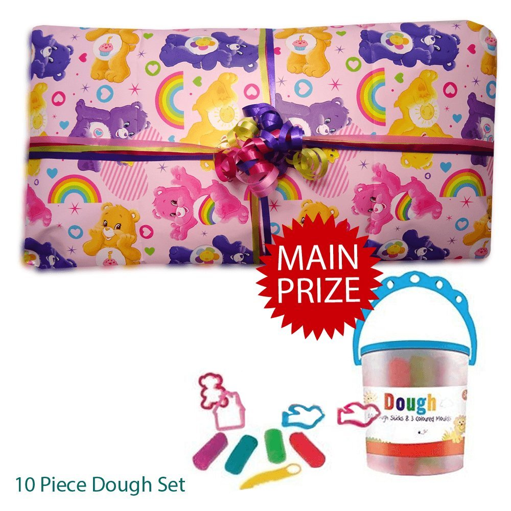 Pass the Parcel Ready Made Party Game - Care Bears - 8 to 16 layer options available (08 Layers) Parties Wrapped Up