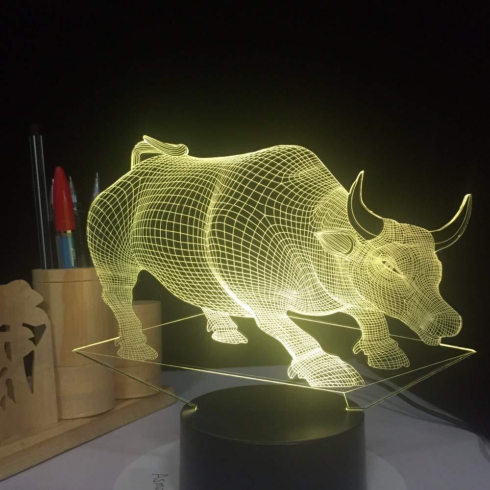 Orangeww Lámparas de escritorio de mesa de luz de noche 3d ...