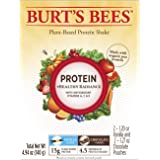 Burt's Bees Plant-Based Protein Powder, Healthy Radiance Sample Pack, 4 Packets, Variety Pack, Vanilla Flavor and Chocolate Flavor